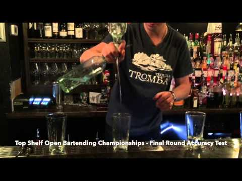 Top Shelf Open Bartending Championships - Final Round Accuracy Test