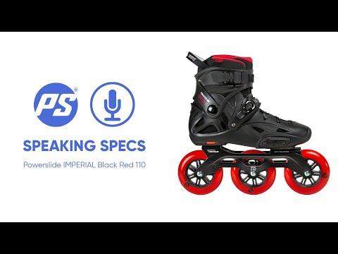 Video POWERSLIDE Roller freeskate IMPERIAL Black Red 110 mm