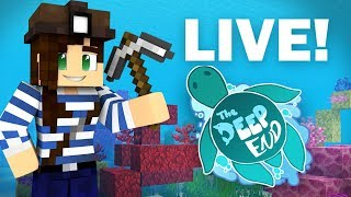 LIVE - Building My Coral Base | The Deep End SMP