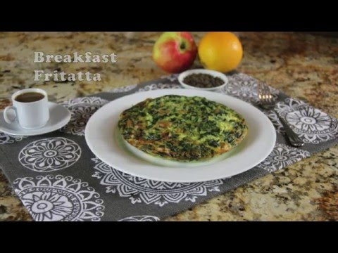 Chicken Sausage, Spinach & Cheese Breakfast Frittata