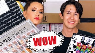 HUGE PR UNBOXING with My Stepson TAYLOR
