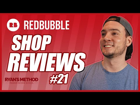 Redbubble Shop Reviews #21 | Print on Demand Tips (2021)