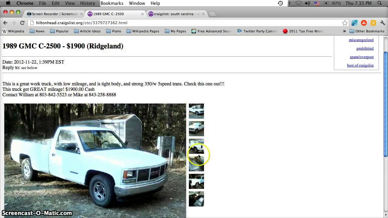 Craigslist Cars For Sale Hilton Head Sc