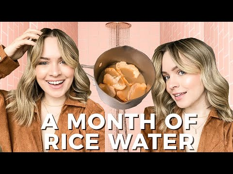 My hair is THRIVING – Rice Water Treatment – Kayley Melissa