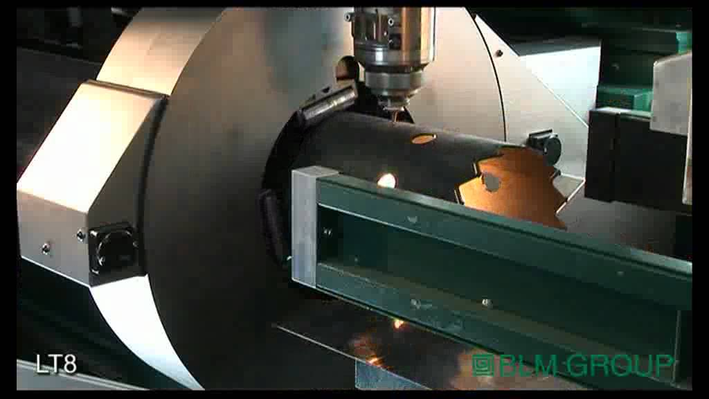 3d Laser Cutting Steel Tubes Blm Group Youtube