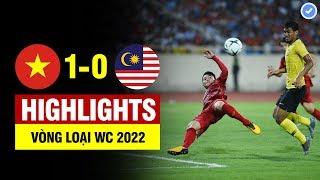 Highlights Việt Nam 1-0 Malaysia   Quang Hải vô lê đẳng cấp thế giới - Việt Nam nhấn chìm Malaysia