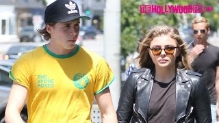 Chloe Grace Moretz & Brooklyn Beckham Arrive To Zinque Cafe Before Going On A Jog 6.30.16