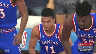 NBA 2K19 (College Hoops 2K19)-Gamplay-Kansas Jayhawks vs Kentucky Wildcats