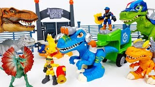 Dinosaurs Are Escaping The Jurassic Park~! Go Chomp Squad Raptor Compactor - ToyMart TV