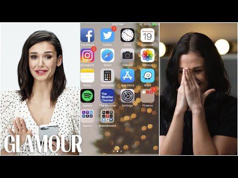 Nina Dobrev Hijacks a Stranger's Phone | Glamour