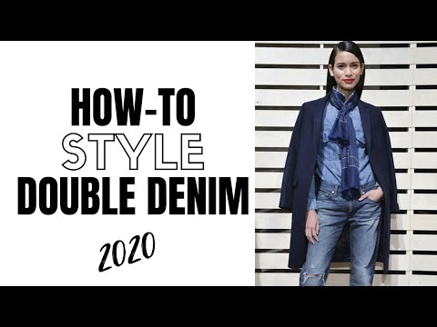 Video: How to wear double denim in 2020 | fashion trends 2020
