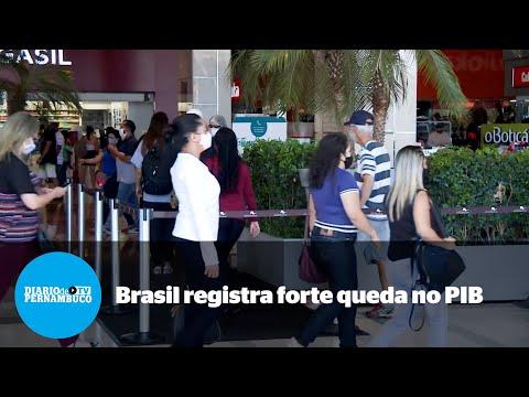 PIB brasileiro tem queda expressiva de 4,1%