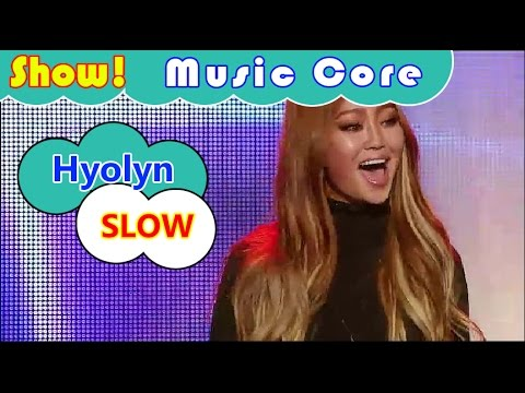 [Comeback Stage] Hyolyn - SLOW, 효린 - 슬로우 (feat. 주헌 of 몬스타엑스) Show Music core 20161112