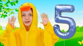 Five Little Ducks | Kid Songs  | Nursery Rhymes Dance Videoclip 2019