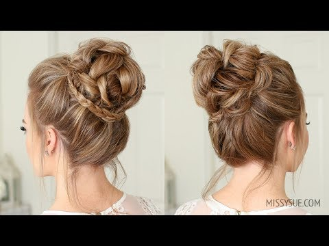 Mini Braid Wrapped High Bun | Missy Sue