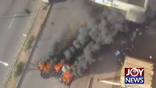 MADINA-ADENTAN HIGHWAY: Aerial footage of the demonstration. (8-11-18)
