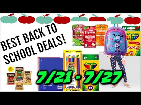 BEST BACK TO SCHOOL DEALS (7/21 – 7/27) FOOD, CLOTHES & LOTS OF SUPPLIES!