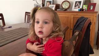 2 year old finds out her baby brother has been born