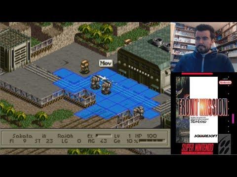 FRONT MISSION (Super Nintendo) - El RPG de mechas de Square || Gameplay SNES en Español
