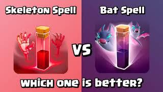Bat Spell VS Skeleton Spell | Clash of Clans