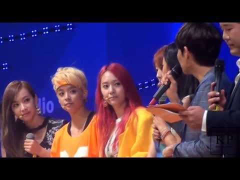 130729 KBS K Pop Meets the World f(x) - 멘트 직캠 by. 공피디