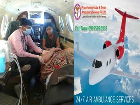 Emergency Rescue Air Ambulance from Dibrugarh to Delhi
