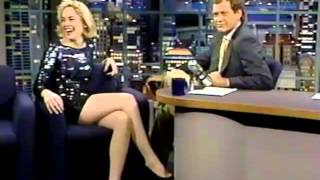 Sharon Stone on Late Night (1992)