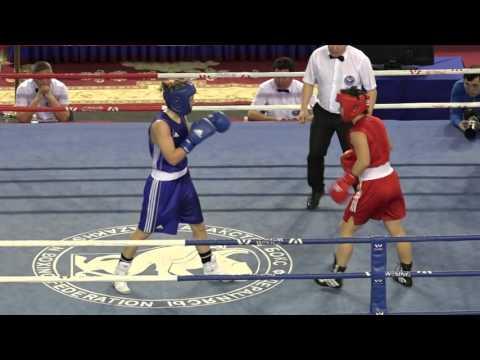 Kazakhstan women's boxing championships 2016, final, 60 kg