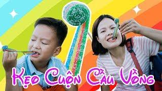 Trò Chơi Ăn Kẹo Cầu Vồng Chupa Chups ❤ BonBon TV ❤ Kẹo 7 màu Chupa Chups