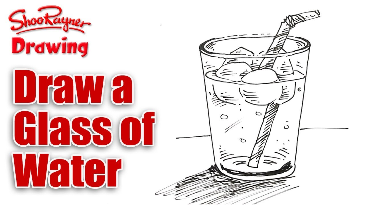 How To Draw A Cup Of Water 61