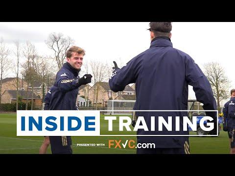 Inside Training   Hard work and high spirits ahead of trip to Man City