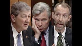 """THAT'S HARD FOR ME TO BELIEVE!!!"" Senators John Kennedy & Sheldon Whitehouse DESTROY Trump Nominee"