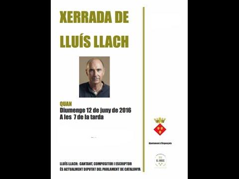 Xerrada de Lluís Llach a Argençola