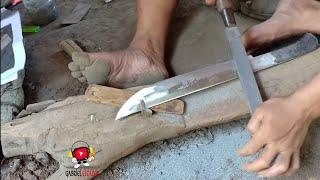 PRIMITIVE TECHNOLOGY  MAKING A SUPER SHARP KNIFE