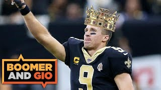 Drew Brees is the TOUCHDOWN KING! | Boomer and Gio