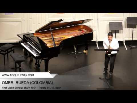 Dinant2014 OMER Rueda First Violin Sonata, BWV 1001 Presto by J S Bach