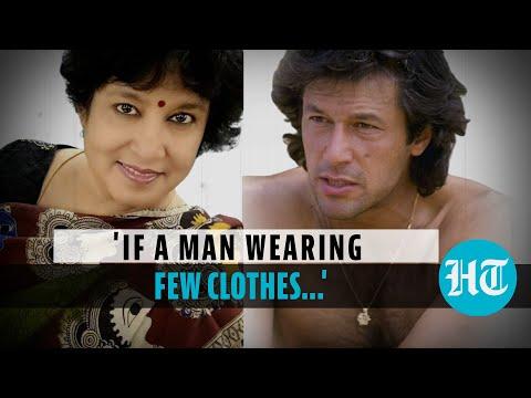 Imran Khan's shirtless photo posted by Taslima Nasreen as Pak PM shields rapists