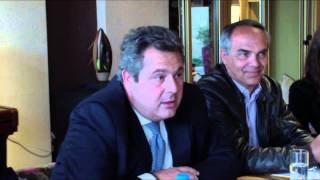 Συνέντευξη Τύπου Πάνου Καμμένου στην Λευκάδα