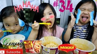 Kids Extreme SPICY Noodle Challenge Maggie Hot Mealz (C1) Funny Video #34 Genesis Family +