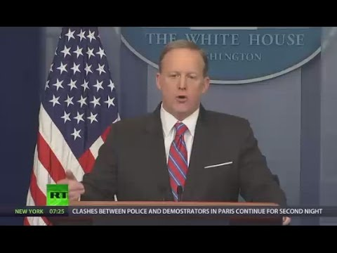 'If Trump uses Russian dressing, that's Russian connection' Spicer to veteran White House reporter