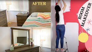 COMPLETE DISASTER BEDROOM MAKEOVER / EXTREME ROOM TRANSFORMATION BEFORE AND AFTER