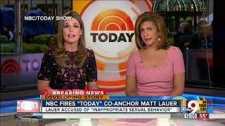 Today's Savannah Guthrie on Matt Lauer: We are heartbroken