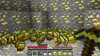 Minecraft UHC but every ore was turned GOLD...