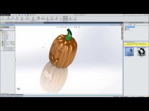 Modeling a pumpkin in SolidWorks - Part 2 - Assembly