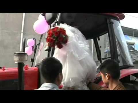 الزفاف بمسيرة جرارات زراعية