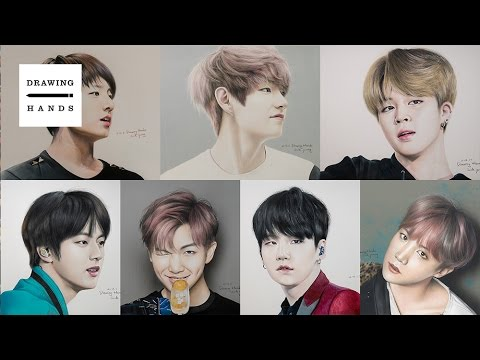 Speed Drawing BTS - all member [Drawing Hands]