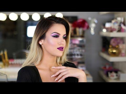 Makeup Look: Colorful Cut Crease + Bold Lip | Nicole Guerriero