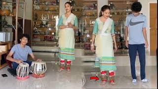Madhuri Dixit son learns KATHAK dance from mother at home..