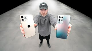 BLIND TEST - Galaxy S21 Ultra vs iPhone 12 Pro Max