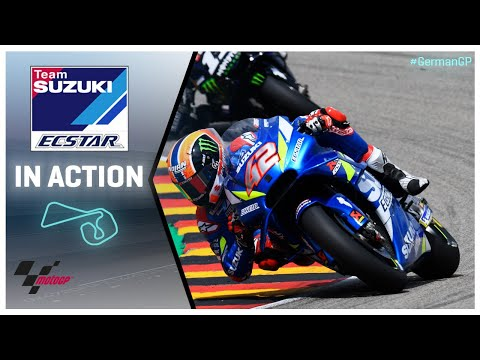 Suzuki in action: HJC Helmets Motorrad Grand Prix Deutschland